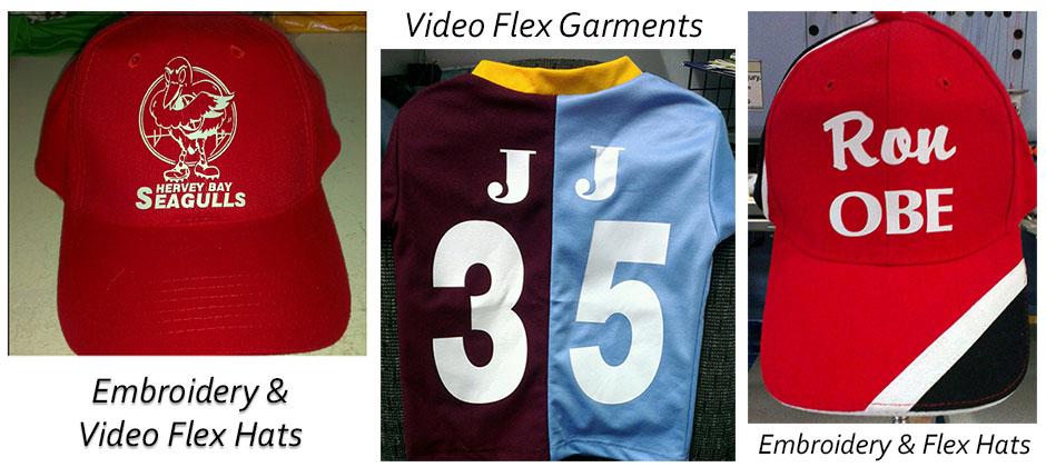 Flex hats and garments